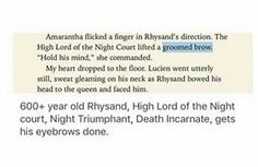 Of course. Rhysand, High Lord of the Night court, Night Triumphant, Death Incarnate, must always look immaculate. A Court Of Wings And Ruin, A Court Of Mist And Fury, Sara J Maas, Sarah J Maas Books, Throne Of Glass Series, Rhysand, Book Fandoms, Book Characters, Book Nerd