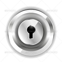 Lock Icon by antishock Vector illustration. Fully editable vector. All design elements included in EPS file (use of Adobe Illustrator or other vector gra
