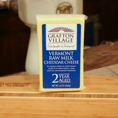 Zeb's General Store - Grafton Village Cheddar Cheese 16 oz, $16.99 (http://www.zebs.com/grafton-village-cheddar-cheese-16-oz/)