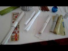 Pletení z papíru pro začátečníky - jaký papír použít - YouTube
