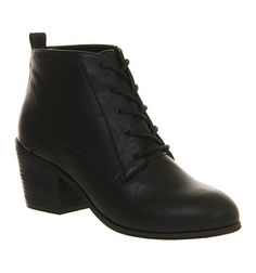 Office Brody Lace Up Black Exclusive - Ankle Boots