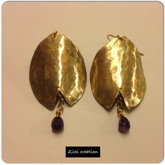 Brass earings