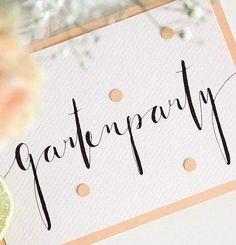 DIY-Anleitung: Kalligraphierte Einladungskarte selber machen via DaWanda.com