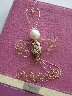 Angel Ornament, Christmas Ornament, Angel, Tree Ornament, Holiday Ornament, Gold Angel, Faith, Holiday Angel, Hope,  Holiday Inspirational