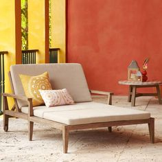 Jardine Double Lounger | West Elm