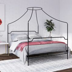 Amazing offer on Novogratz Camilla Metal Canopy, Full Size Frame, Gold Bed online - Fortrendytoprated Camilla, Queen Size Frame, Metal Canopy Bed, Canopy Beds, King Metal Bed Frame, Canopy Bedroom, Bedroom Night, Gold Bed, Diy Home