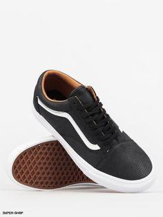 Vans Schuhe Old Skool (premium leather/black/true white)
