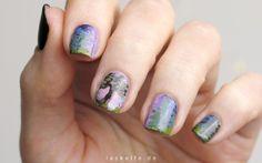 Nail Art Inspired By Bob Ross - Serenity