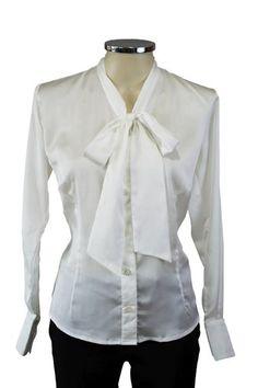 Camisa gola laço branca
