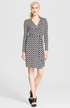 Diane von Furstenberg 'New Jeanne Two' Print Silk Wrap Dress available at #Nordstrom