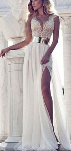 I think this would be the most elegant perfect wedding dress. Not the traditional direction but classy none the less