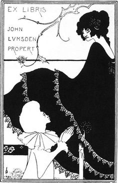 Aubrey Beardsley, Book-plate design, 1894.