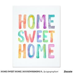 HOME SWEET HOME | HOUSEWARMING PARTY INVITATION