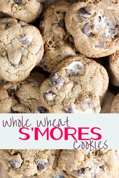 ... whole wheat s mores cookies healthy whole wheat s mores cookies with