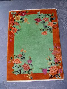 2' x 3' Pretty Antique Art Deco Chinese Hand Knotted Wool Oriental Rug 1920 | eBay
