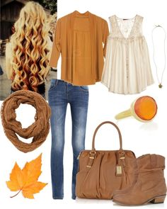 """""""Fall Fall Fall Outfit"""" by natihasi on Polyvore"""