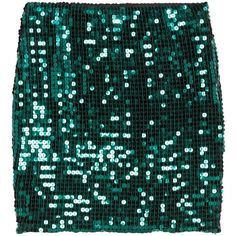 H&M Short sequined skirt (€23) ❤ liked on Polyvore featuring skirts, mini skirts, petrol, green skirt, mini skirt, green sequin mini skirt, sequin mini skirt and short green skirt