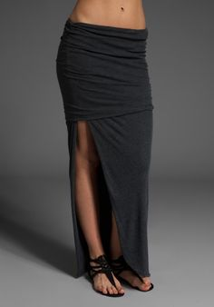 Long skirt with large slit.