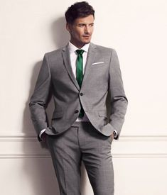 Grey and Emerald Green Suit for the Men:)