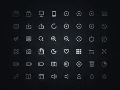 48 Free thin line icons by Robin Kylander