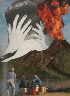 Lusty Lava Collage by PoppysPeculiarPrints on Etsy https://www.etsy.com/listing/503157691/lusty-lava-collage