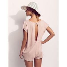 Ice Cream Romper ($100) ❤ liked on Polyvore featuring jumpsuits, rompers, pink romper, cotton rompers, free people rompers, pink rompers and playsuit romper