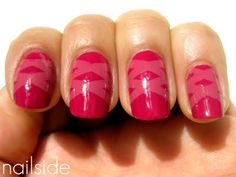 Laced Up Pink Manicure