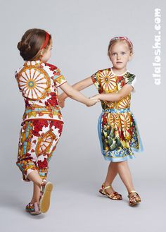 ALALOSHA: VOGUE ENFANTS: Dolce&Gabbana SS14 Girls Fashion