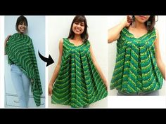 In today's video i am showing you that how you can convert old cotton dupatta or any cotton fabric into Umbrella top or umbrella kurti which can also wear as. Kurti Neck Designs, Dress Neck Designs, Kurti Designs Party Wear, Blouse Designs, Baby Girl Dress Patterns, Dress Sewing Patterns, Sewing Blouses, Stitching Dresses, Frock Design