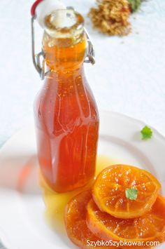 Syrop pomarańczowy deserowy B Food, Cooking Recipes, Healthy Recipes, Non Alcoholic Drinks, Beverages, Simple Syrup, Hot Sauce Bottles, Smoothie, Brunch
