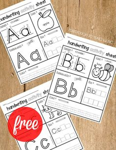 Fun ABC Games for Kids FREE Handwriting Activity Sheets! One for every letter of the alphabet. One for every letter of the alphabet. Preschool Learning Activities, Preschool Printables, Preschool Lessons, Alphabet Activities, Preschool Worksheets, Alphabet Worksheets, Preschool Activity Sheets, Letter Identification Activities, Free Alphabet Printables