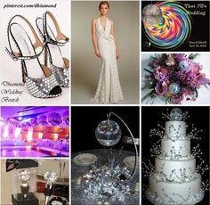 #70s #Disco #Wedding #Theme #Ideas & #Inspiration - #Purple #Silver & #Black
