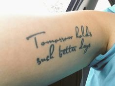 """blink-182 """"tomorrow holds such better days"""" adams song tattoo"""