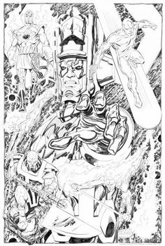 Galactus & heralds Airwalker, Silver Surfer, Terrax and Firelord by John Byrne
