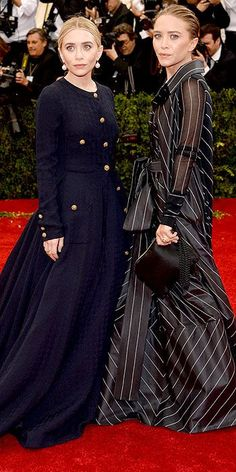 Met Gala 2014: Mary-Kate Olsen In vintage Chanel & Ashley Olsen in vintage Gianfranco Ferre