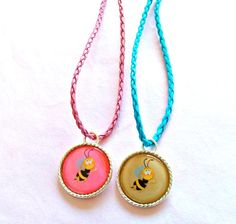 Bumbble  Bee Necklaces for Kids    Necklaces for by splendorhoney