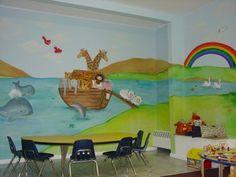 1000 ideas about church nursery decor on pinterest for Church nursery mural ideas