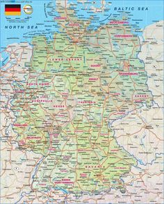 Topographic Map Germany Weltkartecom Map Germany Deutschland - Germany map full