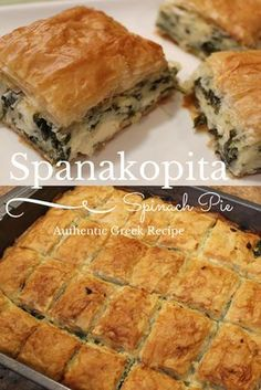 (This is almost the same as my Greek friends recipe but he doesn't add goat cheese.) My family's authentic recipe for Spanakopita passed down through my family from Sparta, Greece! Spinach pie is absolutely delicious. Think Food, Love Food, Quiches, Vegetarian Recipes, Cooking Recipes, Bean Recipes, Turkey Recipes, Free Recipes, Salad Recipes