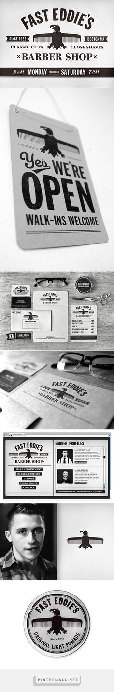 Fast Eddie's Barber Shop Branding on Behance | Fivestar Branding – Design and Branding Agency & Inspiration Gallery