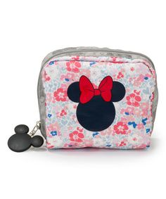 Love this Spring into Love Mickey & Minnie Square Cosmetic Bag on #zulily…