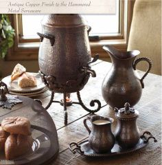 Put your perfect table together with this gorgeous hammered metal serveware from #TheGGCollection!