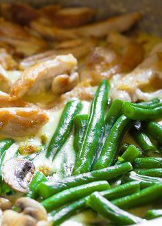 Green Bean, Mushroom and Chicken Skillet