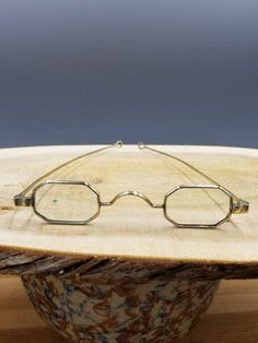d8b2a640c6 Antique Coin Silver Rectangle Octagon Eyeglasses