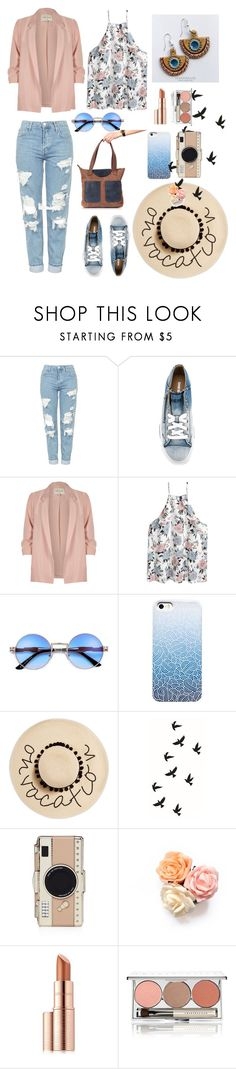 """""""Excursion on a sunny day))"""" by three-snails ❤ liked on Polyvore featuring Topshop, Diesel, River Island, August Hat, Kate Spade, Estée Lauder and Chantecaille"""