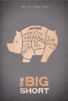 The Big Short (2015) ~ Minimal Movie Poster by Onironauta ~ Oscars 2016 Nominees #amusementphile
