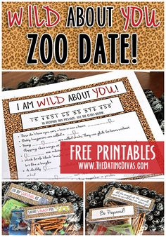 Take a walk on the wild side! A trip to the zoo is a great way to get outside and have fun with your sweetie! www.TheDatingDivas.com #creativedates #freeprintables #animaltheme