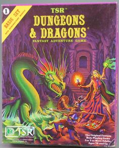 DnD Basic Set (Moldvay edition)  Little did my parents know that giving this to me for Christmas would turn into a life long obsession. Thanks Mom & Dad!