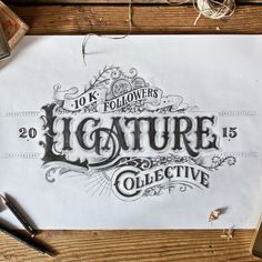 Hand-drawn lettering projects made in 2015 so far, by Tobias...