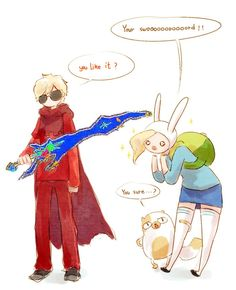 Homestuck and Adventure Time crossover -- Nah I'm pretty sure that sword sucks XD